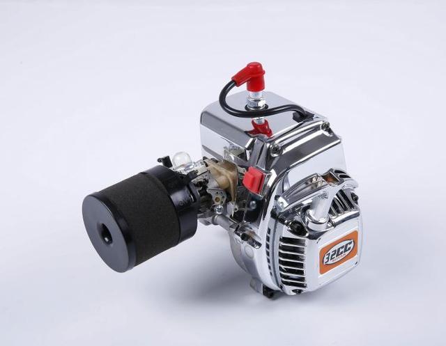 1/5 scale RC Car Gas 2 Stroke Engine Chorme 32cc R320 For KM Rovan ...