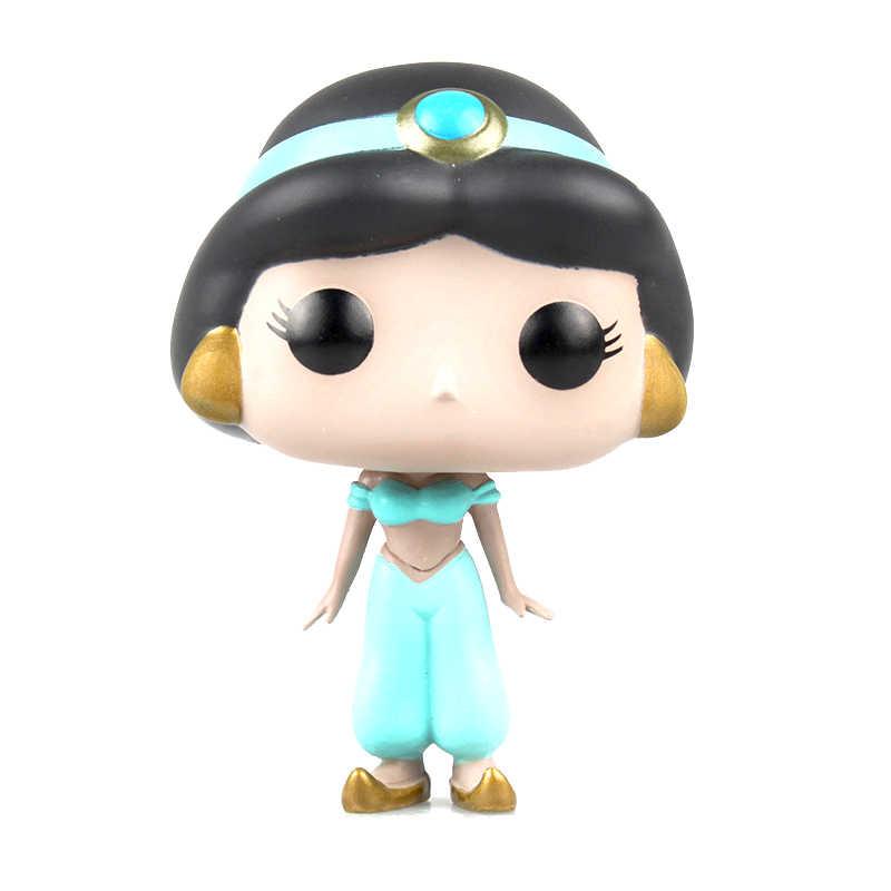 Funko pop princesa boneca jasmine ariel belle cinderela rapunzel vinil collectible figura de ação brinquedos para crianças presente