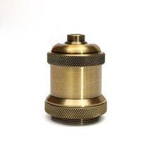 цена на Vintage Edison Light Bulb Base E26/E27 Retro Light Socket Aluminium Pendant Lamp Holder Screw Antique Copper Lamp Bases