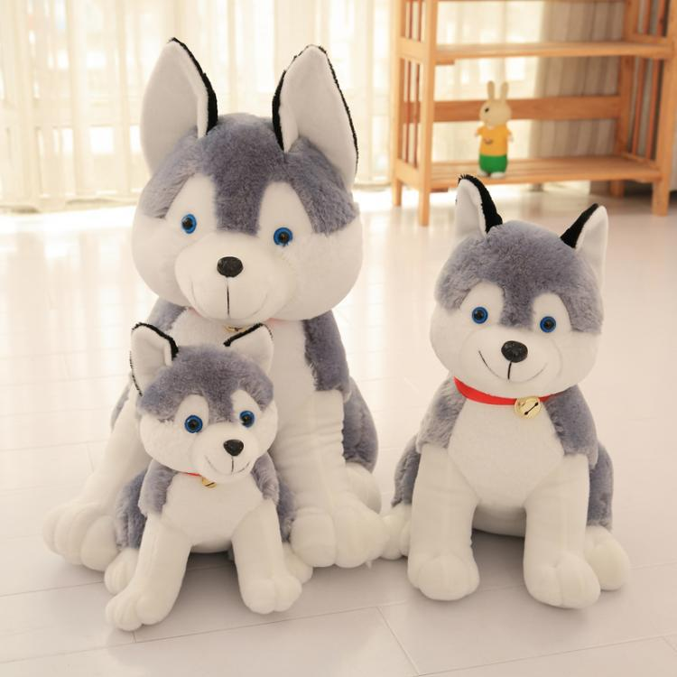 New Cute Stuffed Toys Sitting Posture Husky Doll Simulation Birthday Gifts For Girls And Children Soft And Lovely Free Shipping