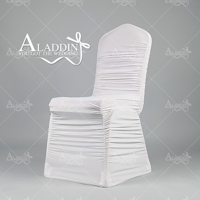 Ruched Chair Covers Ebay Stretch Retail White Elastic Cover With Swag Back Wedding For Party Event Large Size Cloth From Factory