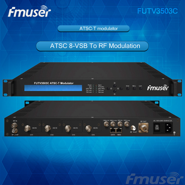 FUTV3503C ATSC 8 VSB To RF Modulation2ASI 2SMPTE 310M InputRF OntputATSC 8VSB Modulationwith Network Management In Radio TV Broadcast Equipments