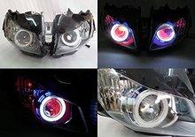 Angel Eye HID Projector Demon Eye Headlight Assembly For 2012-2013 Honda CBR1000RR for kawasaki ninja250 2013 2014 2015 2016 ninja300 zx6r ninja 250 300 hid angel eye projector headlight assembly built in led