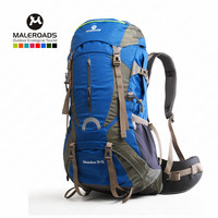Maleroads 60L Climbing Bag Outdoor Sports Backpack Waterproof Nylon Rucksack Bag With Rain Cover Outdoor Hiking Camping Bike