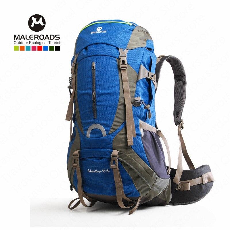 Sac d'escalade Maleroads 60L sac à dos de sport de plein air sac à dos en Nylon imperméable avec housse de pluie randonnée en plein air Camping vélo