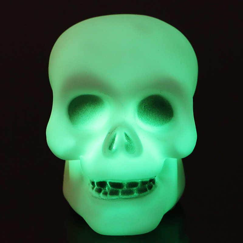 צבעוני מיני פלאש LED גולגולת לילה אור מנורת ליל כל הקדושים המפלגה דקור מתנת אבזר