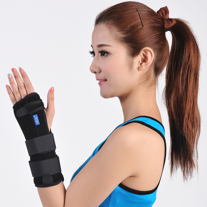 Ober support fitted splint Broken splints sprained brace apologetics wrist length tube sport cotton wrist brace wrap support black