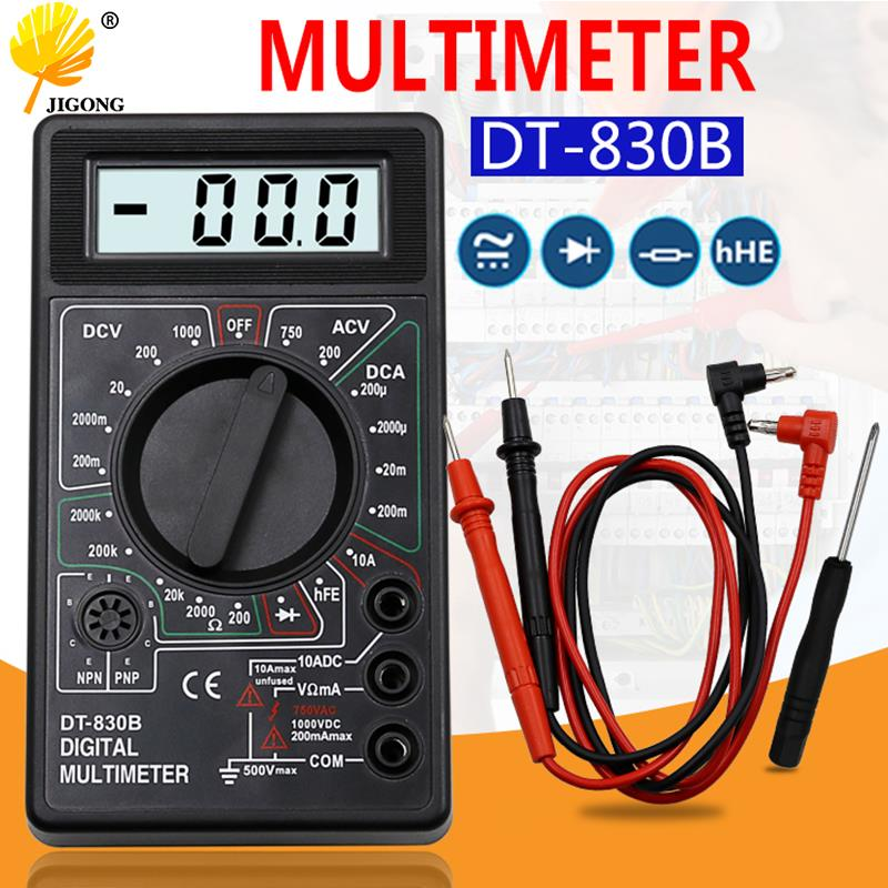 DT-830B LCD Digital Multimeter AC DC 750 1000V Voltmeter Ammeter Ohm Tester Meter Digital Multimeter