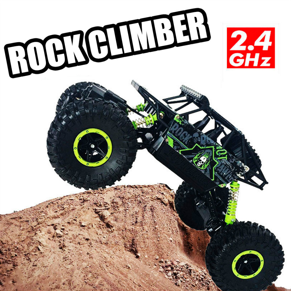 RC Car 4×4 Driving Rock Crawlers Off-Road Car Bigfoot Double Motors Drive Car 4CH 4WD Remote Control Car Model Vehicle Toys