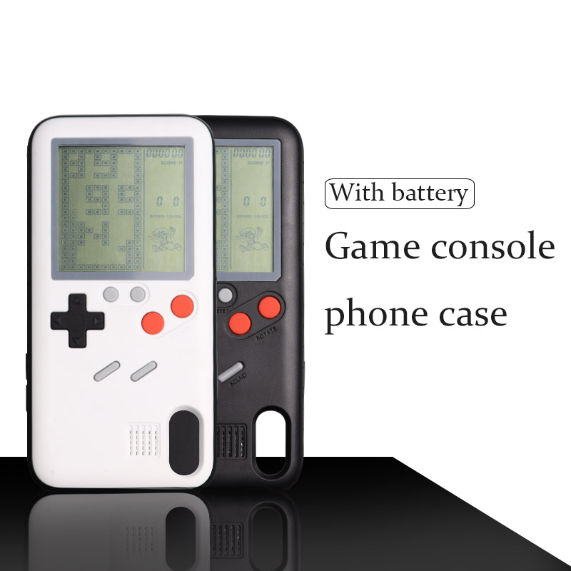 Nostalgia Tetris Game Consoles Mini Handheld Game Players Built-in 26 Games Phone Case For Iphone X 6s 7 8 Plus Gift