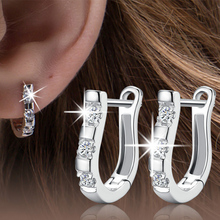 silver plated earrings Set auger earrings,Fashion silver jewelry,manufacturers,wholesale,female models harp earrings