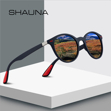 SHAUNA Retro Polarized Sunglasses Men Brand Designer Frame Round Sun Glasses Reflective Shades Women Driving Glasses