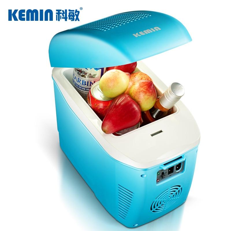 KEMIN 7.5L Portable Mini Fridge Home Car Dusl-use Mini Refrigerator Dc 12v Refrigeration Small Cooler Box For Home Car Freezer