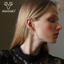 Viennois Gold Color Spiral Shape Same Side Stud Earrings for Women Punk Style Female Earrings Women Fashion Jewelry