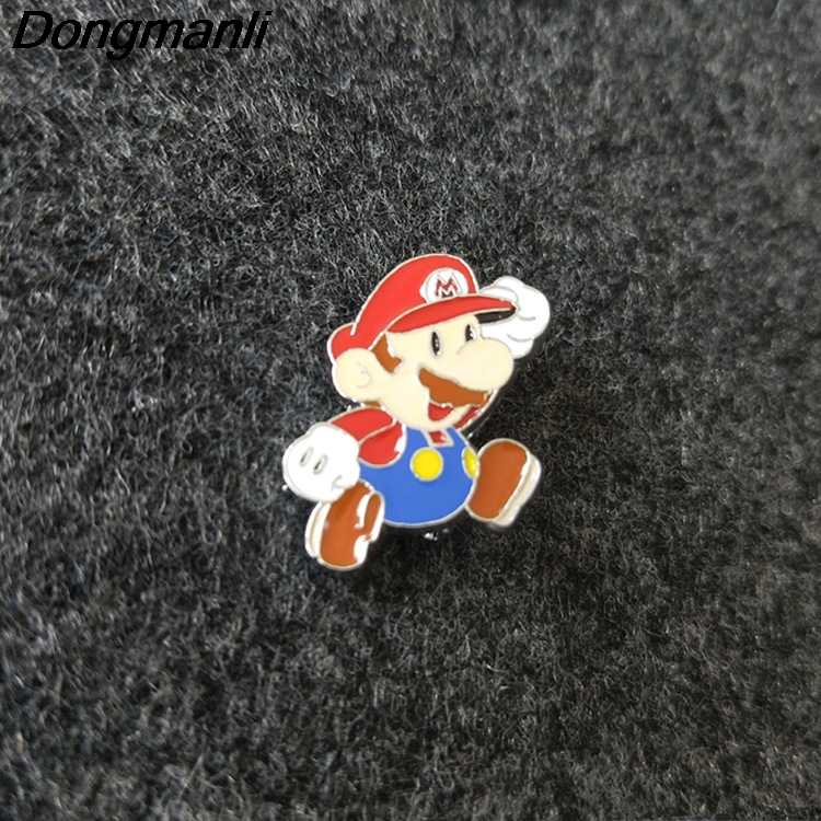 P2923 Dongmanli Super Mario Metal Enamel Pins and Brooches for Women Men  Lapel pin backpack bags badge Kids Gifts