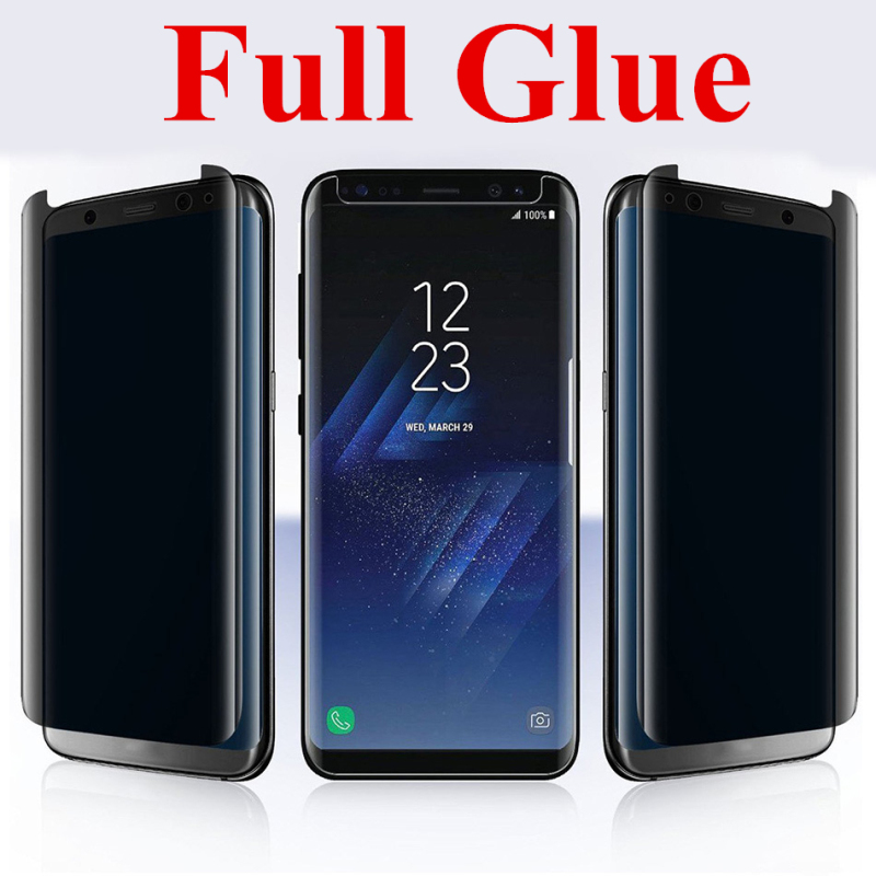 Full Glue Anti Spy Tempered Glass Screen Protector For Samsung Galaxy S9 Plus S8 Note