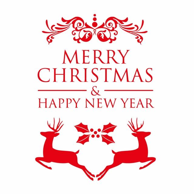 Frohe Weihnachten Aufkleber.Us 4 96 10 Off Frohes Neues Jahr Frohe Weihnachten Fenster Aufkleber Weihnachten Hirsch Vinyl Wand Kunst Abziehbilder Neue Jahr Design Dekoration In
