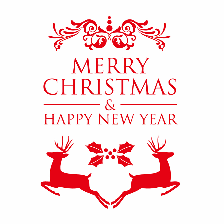 Happy new year merry christmas window sticker christmas for Christmas wall mural plastic