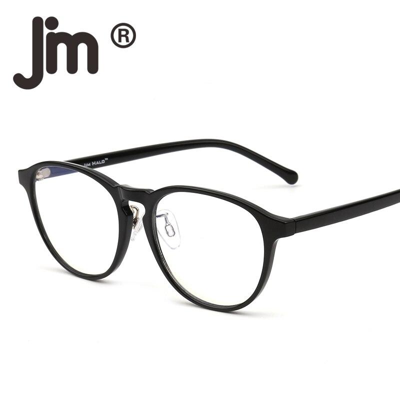 JM Blue Light Blocking Round Reading Glasses, Reduce Eye Strain Anti Glare Clear Lens Video Rectangle Eyeglasses Men Women blue light blocking glasses