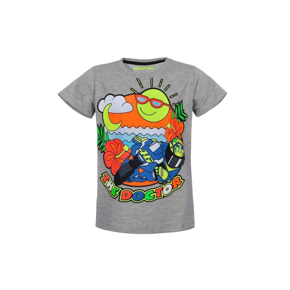 New 2017 Motorcycle Kids t-shirt MotoGP Valentino Rossi VR46 Moto GP Life Style Grey Kids T-shirt The Doctor Children T-shirt