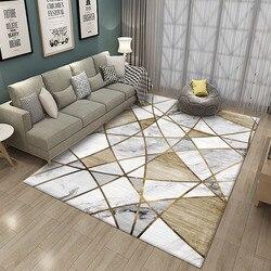 Tapete de mármore nórdico tapetes 3d impresso sala estar quarto grande criança escalada tapetes yoga almofada decoração da sua casa mesa café
