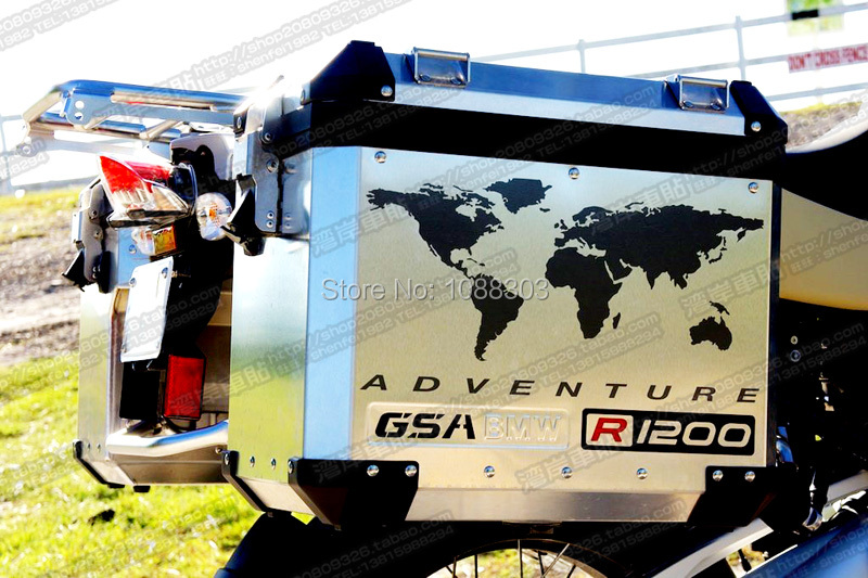 2PCS Motorcycle Tail Box Car Sticker Decals for ADV R1200GSLC F800GS F700GS TOURATECH