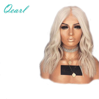 Platinum Blonde Brazilian Human Hair Full Lace Wigs Pre Plucked Hairline Remy Hair Natural Straight Blonde Lace Wig Qearl Hair