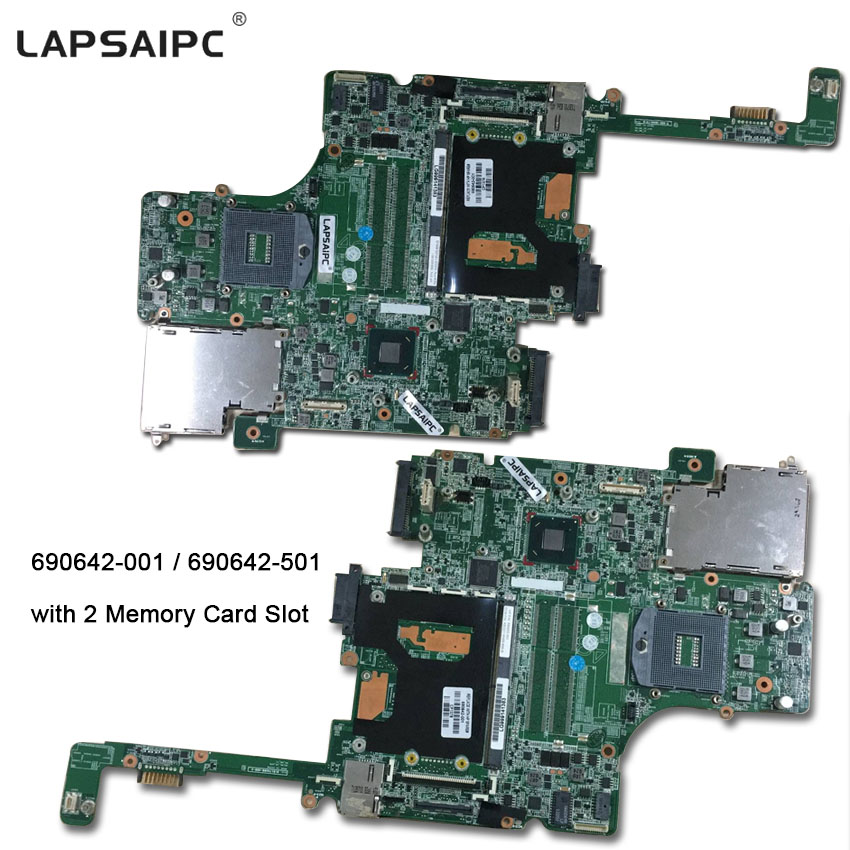 Lapsaipc 690642-001 690642-501 Mainboard for HP 8570W laptop motherboard QM77 with 2 Memory Card slot tested good working top quality for hp laptop mainboard envy4 envy6 686089 001 laptop motherboard 100% tested 60 days warranty