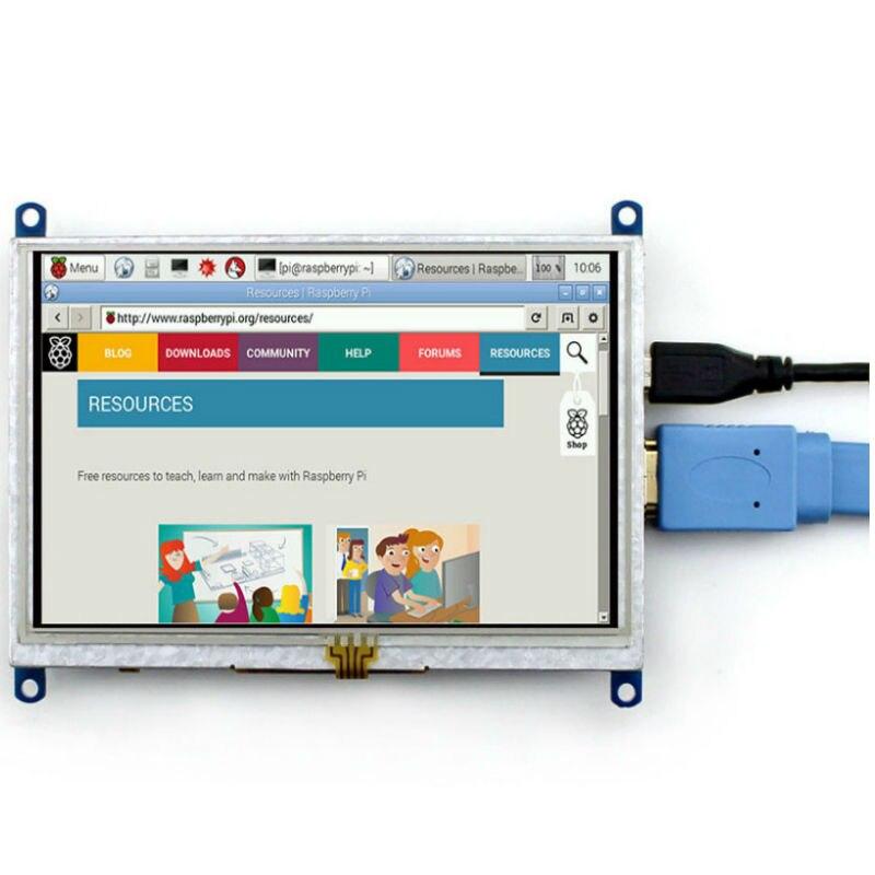5 inch LCD HDMI Touch Screen Display Module Board TFT For Raspberry Pi 2 model B/B+ LCD Module USB Driver 800*480 For Banana Pi