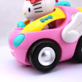 Brand New RC Car Free Shipping Children's Cartoon Kitty Remote Control Car Eelectric Toy with Lighting And Music Random Color