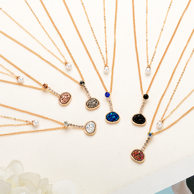 Detail Feedback Questions about 2018 New Multilayer Crystal  pearl Pendant  Necklaces For Women Charm Choker Necklace Statement Party Fashion Jewelry  ... ba8a533eeaa3