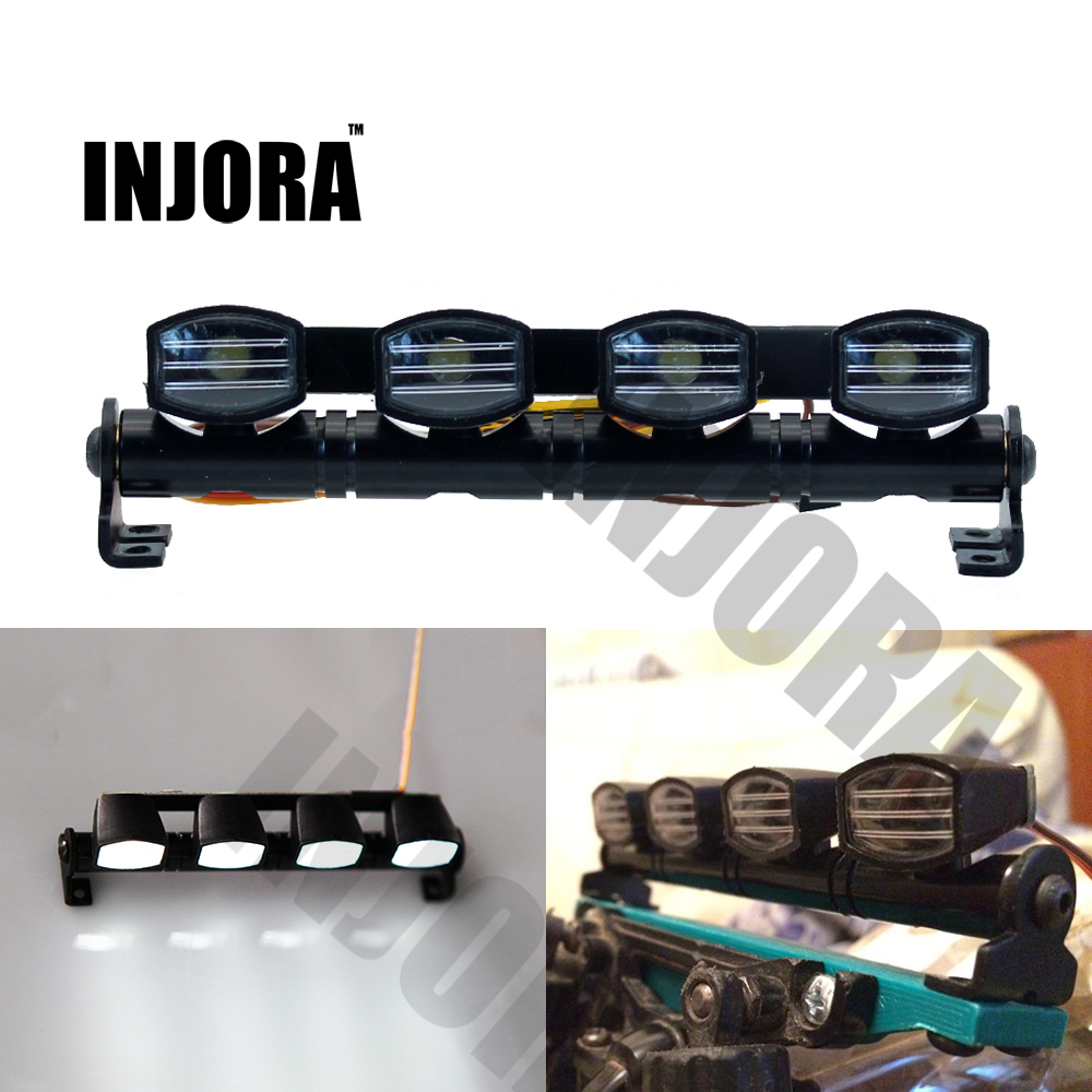 Ultra Bright LED Light Bar for 1/8 1/10 HSP HPI Traxxas RC 4WD Car Monster Truck TAMIYA CC01 Axial SCX10 RC4WD D90 RC Crawler 2pcs traxxas original 1 5 x maxx tires wheels tire tyre for 1 5 traxxas x maxx rc monster truck model 7772
