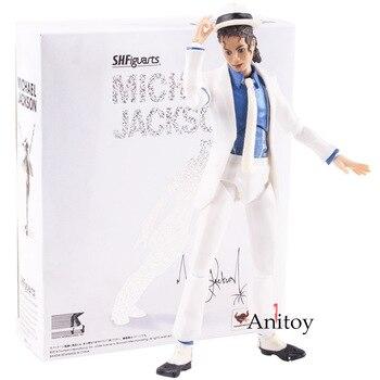 Singer Michael Jackson Figure Smooth Criminal Anti-gravity Lean Michael Jackson Action Figure Figurine Doll Toy 15.5cm