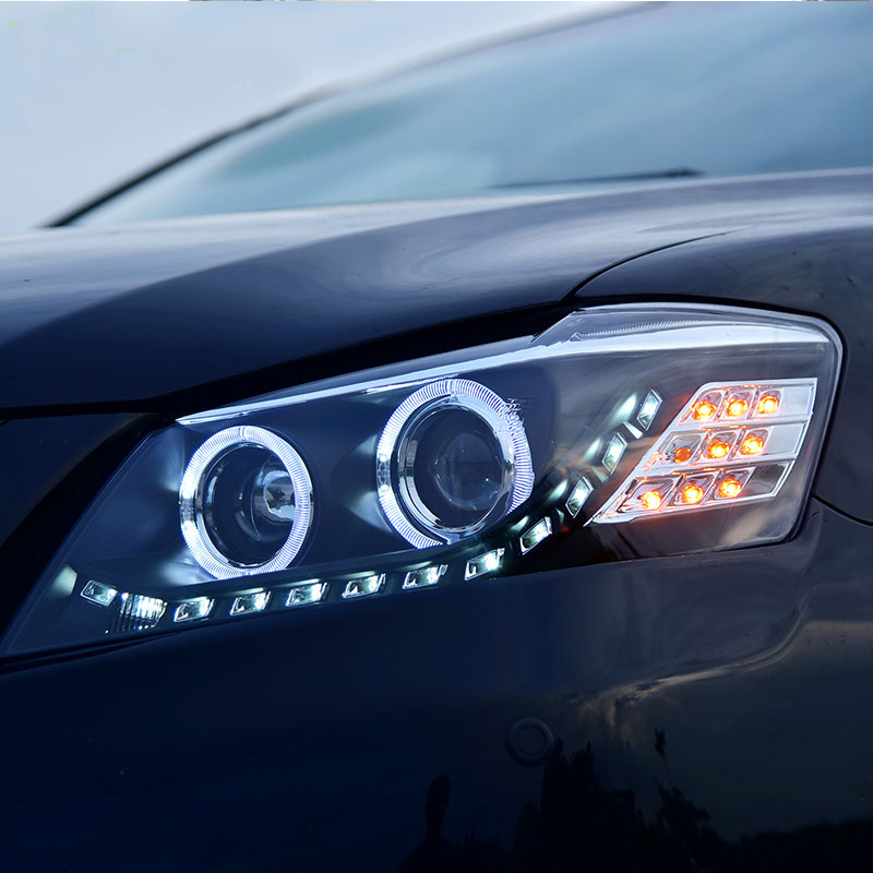 Car Styling Head Lamp Case For Toyota Camry Headlights 2009 2010 2011 LED Headlight Angel eyes
