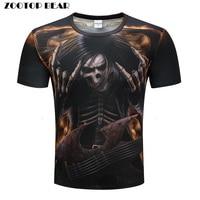 Heavy Metals T Shirts Men 3D T Shirts Hip Hop Tops Funny Rock Tees Skull Printed