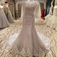 QUEEN BRIDAL Sexy 2018 Evening Dresses Mermaid Lace Beading Sequins Long Formal Dress Party Dresses Gowns