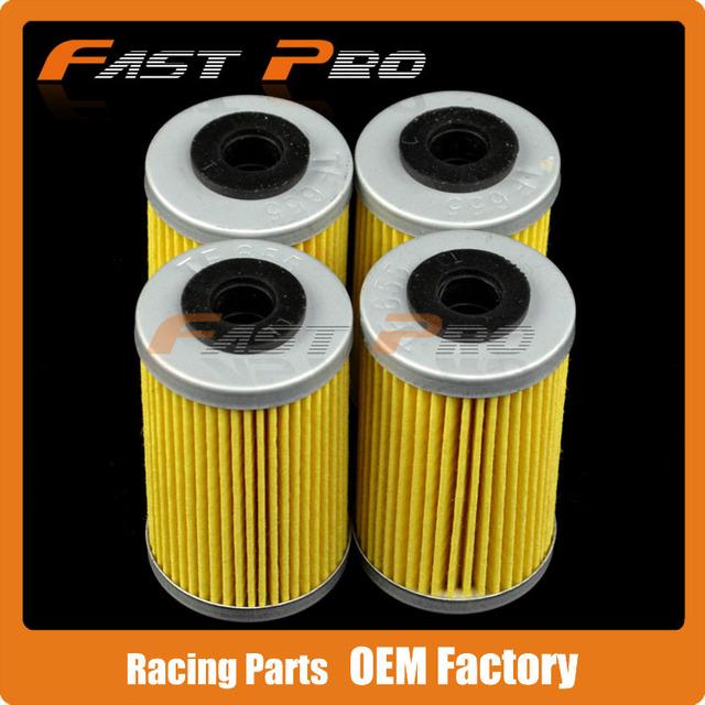 4 X Filtro de Óleo Limpo Beta 250RR 400RR 450RR 525RR Enduro Motocross ATV Polaris Quad 450 525 Outlaw MXR IRS segundo