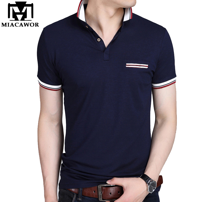 Miacawor Marke Männer Polo Shirts Solide Sommer Kurzhülse Homme Baumwolle Mode Männer Camisa Tops Tees Größe 5xl Mt580 MöChten Sie Einheimische Chinesische Produkte Kaufen? Babykleidung Mädchen