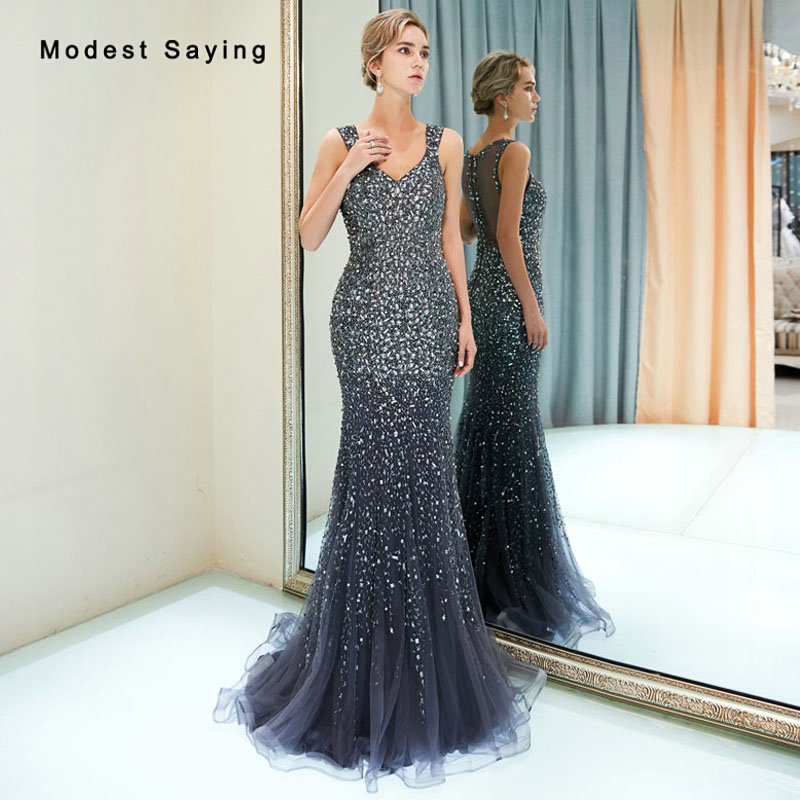 755f680149 Detail Feedback Questions about Luxury Mermaid Sweetheart Evening Dresses  2019 with Rhinestone Formal Beaded Sparkly Engagement Party Prom Gowns  vestidos ...