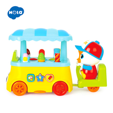HUILE TOYS 6101 Super Funny Toy Candy Icecream Car with Light & Music for Girl Gift Learning Educational Toys for Baby 18 months huile toys 82721 baby toys infant crawl beetle electric toy bee ladybug with music