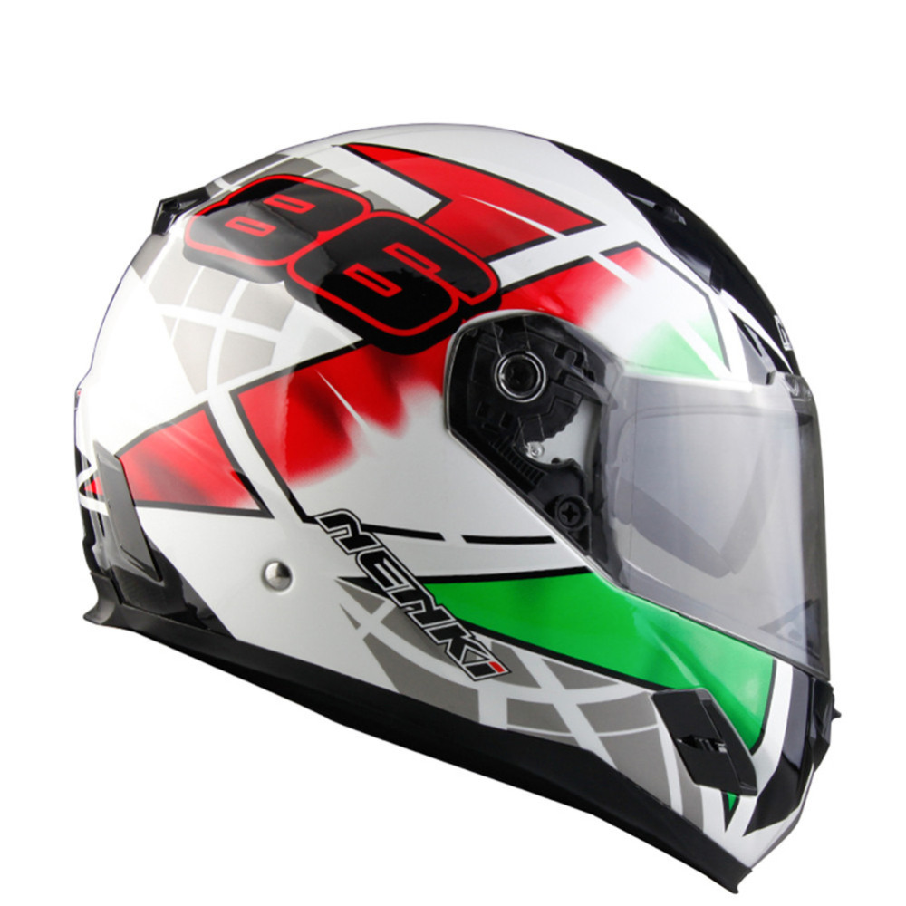 NENKI Fiberglass Motorcycle helmet Full Face Moto 856Z Capacetes Motociclismo Cascos Para Moto Casque Motosiklet Kask Helmets s c cotton brand backpack men good quality genuine leather
