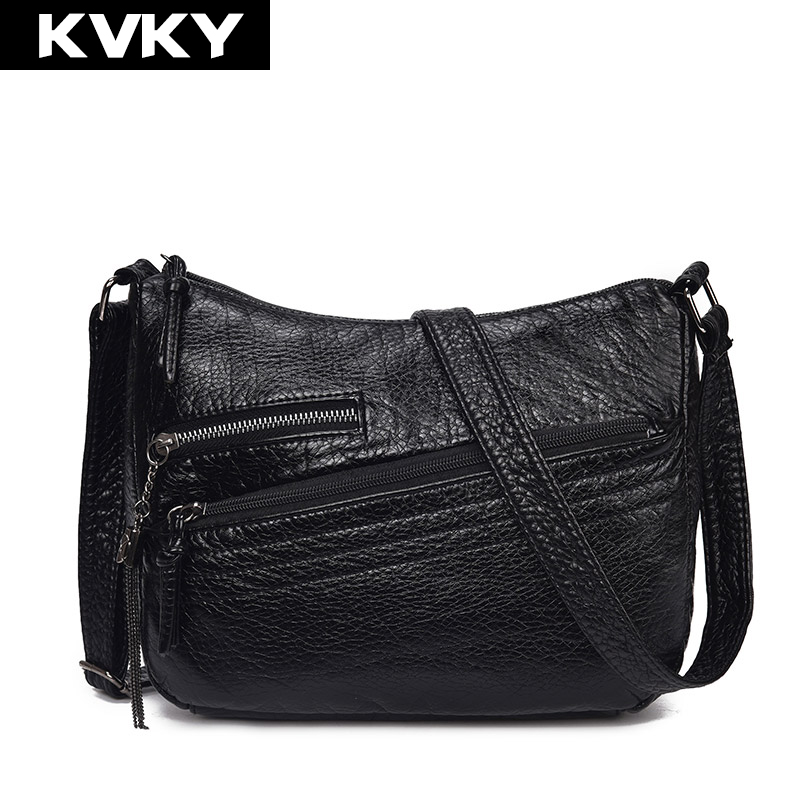 KVKY 2018 Women Shoulder Bags Soft PU Leather Female Handbags Hobo Ladies Tote Zipper Messenger Bag Vintage Crossbody Bag Bolsas kvky brand fashion soft leather shoulder bags female crossbody bag portable women messenger bag tote ladies handbag bolsas