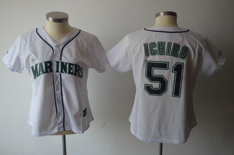 51 Ichiro Suzuki jersey women 55 Johnson baseball jersey female Seattle  Mariners jerseys cheap buy dirct from china S XXL-in Baseball Jerseys from  Sports ... beb0af6351