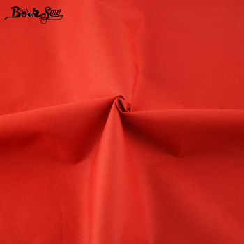 Booksew-tela de sarga clásica de Color rojo sólido, 100%, algodón, Metro de...