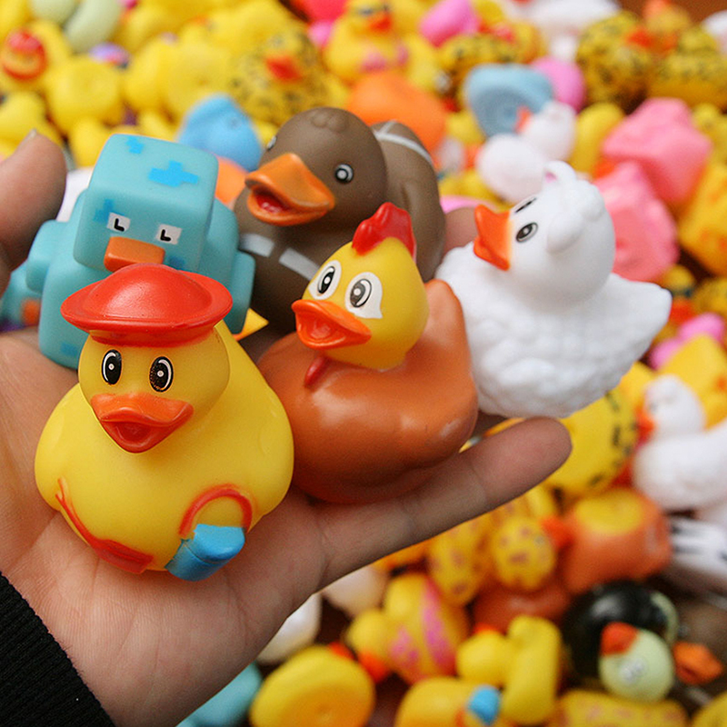 Rubber Bathing Duck Toy Variety Style Floating Rubber Duck Water Swimming Toy Baby Bath Toy Random Delivery Duck