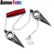 17cm Hot Anime Naruto Shuriken Minato Kunai Japanese Ninja Cosplay Zinc Alloy Weapon Uzumaki Sasuke Cosplay