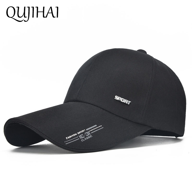 QUJIHAI 2018 Sports Baseball Cap Men 10 CM Long Sun Visor Hat Dad Snapback Outdoor Bone Casquette Gorras Breathable Sport Hats aetrue winter beanie men knit hat skullies beanies winter hats for men women caps warm baggy gorras bonnet fashion cap hat 2017