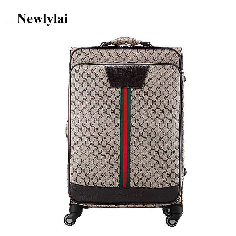 PU luggage 20/24/28 inches wheels password check-in luggage Zipper travel bags JJ170091