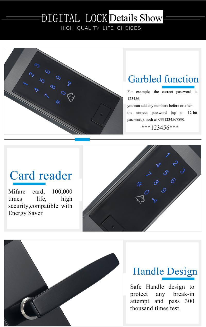 Security Electronic Touch Screen Keypad Password Lock Door Home Office Door Lock