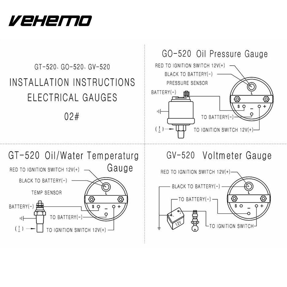 cars modified instrument water temperature gauge instrument panel motormeter universal gauge gray [ 1000 x 1000 Pixel ]